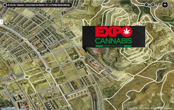 como llegar expocannabis  rivas vaciamadrid