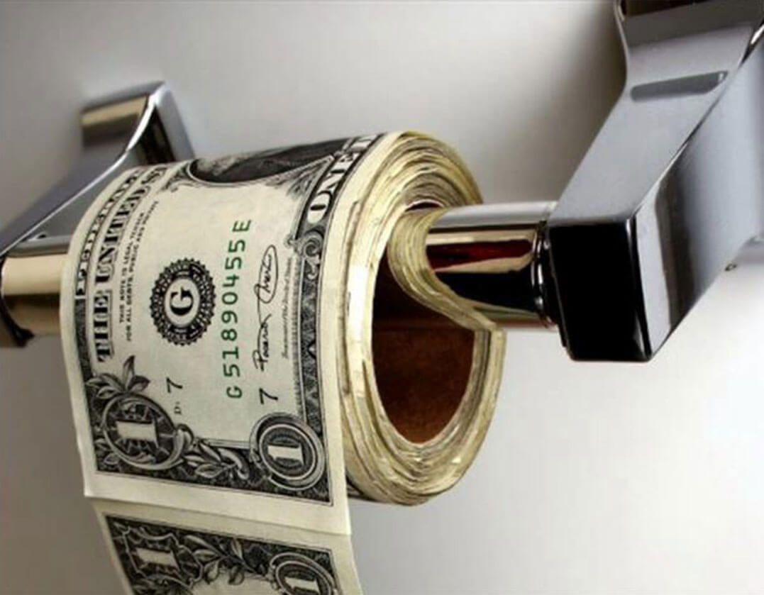 dinero tirado