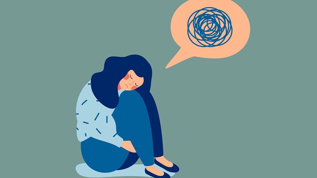 Mujer sufre de ansiedad, la marihuana para la ansiedad puede ser positivo para ella.