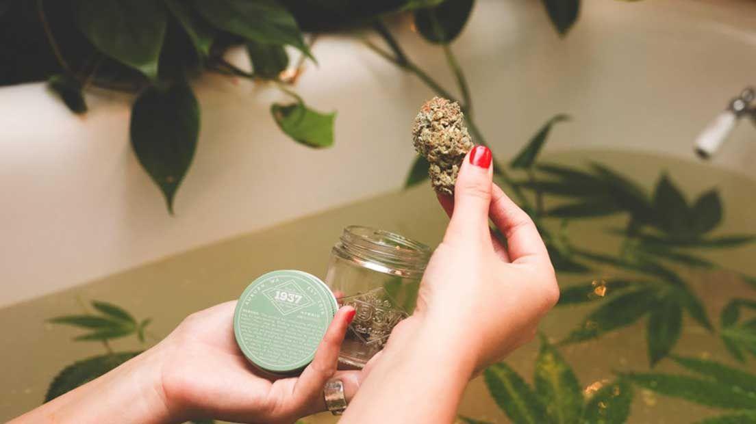 Los baños de marihuana son excelentes para la circulación.